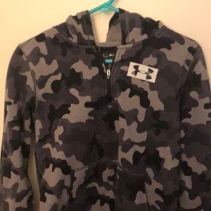 Boys large Under Armour quarter zip sweatshirt
